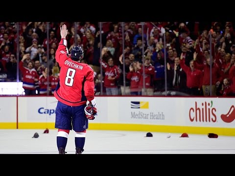 Овечкин забивает 500 гол в НХЛ