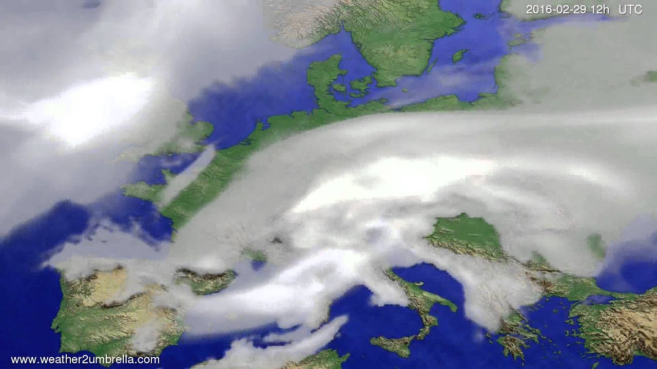 Cloud forecast Europe 2016-02-25