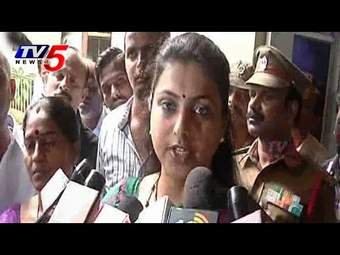 MLA Roja Blasts on CM Chandrababu Over loan waiver : TV5 News