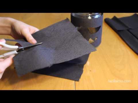Vídeo: cómo hacer un portavelas con forma de murciélago para Halloween
