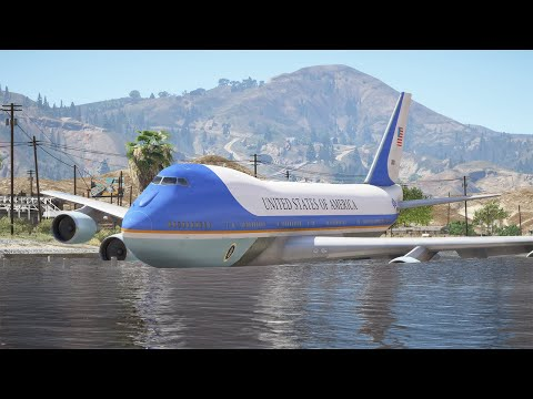 "Boeing VC-25 ""Air Force One"" Emergency Water Landing 