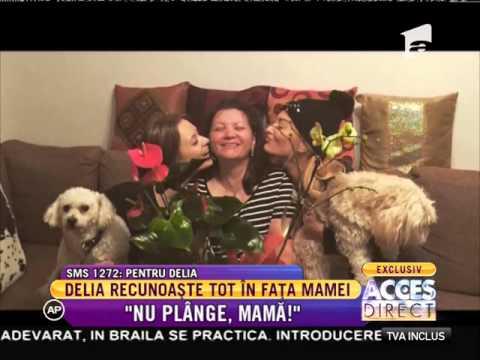 """Delia recunoaște tot în fața mamei: """"Nu plânge, mamă!"""" (видео)"""