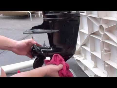 How To Change Gearbox Oil with Tomato Sauce Bottle Mercury 15hp Outboard Motor Service