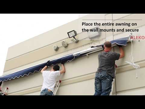 How To Assemble and Install Your Motorized ALEKO Retractable Patio Awning