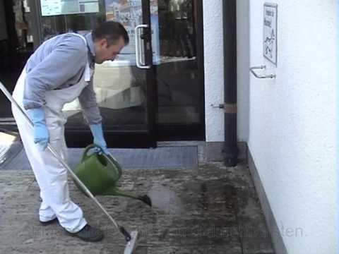 Grünbelag entfernen: Terrassenreinigung und Reinigung großer Steinoberflächen
