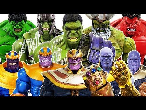 Thanos Army vs The Avengers Battle! Go~! Hulk, Iron Man, Spider-Man, Captain America, Thor