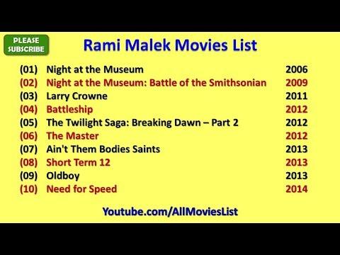 Rami Malek Movies List
