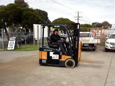Toyota Electric Forklift with Container Mast Special
