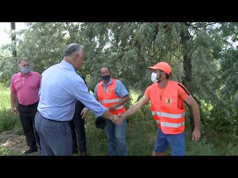 Președintele țării a vizitat satul Cocieri din raionul Dubăsari