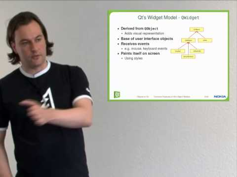 QT - Fundamentals of Qt - Objects in Qt, part 1/3 - Qt objects and UI elements - First steps 2010 Presented by: Mirko Boehm Part 2: http://youtu.be/-h0F8-WjHV0 Ag...