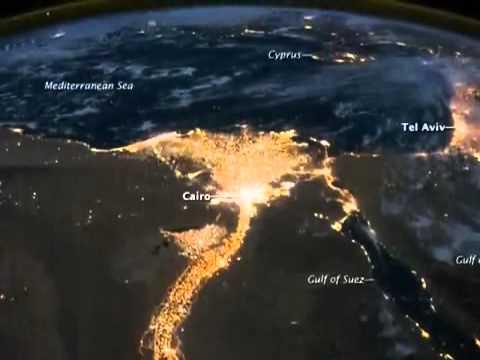 وكالة ناسا تلتقط صور غريبة لمصر من الفضاء الخارجى وتفجر مفاجأة