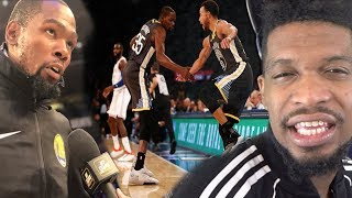 WTF DURANT THINKS HE'S NICE!! WARRIORS vs KNICKS HIGHLIGHTS REACTION