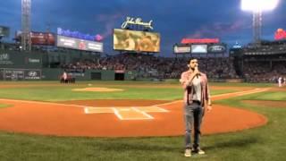 National anthem Jeremy Jordan of American Repertory Theater