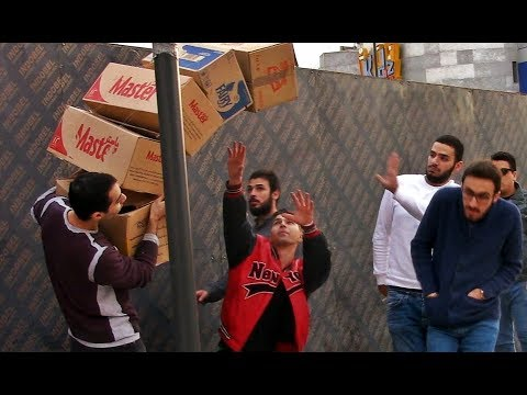Anti-gravity prank in Beirut.