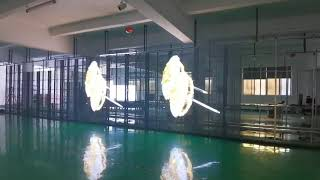 Transparent LED Display for glass wall and showcases, Glass LED Screen youtube video