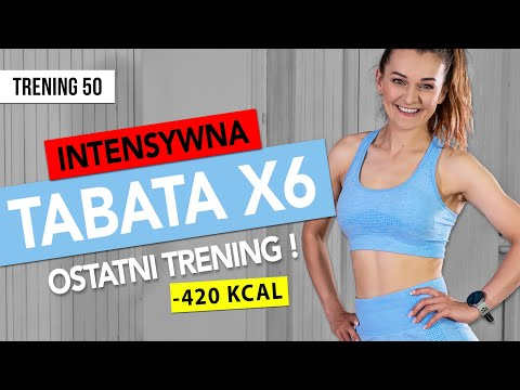 Wyzwanie 90 DNI | OSTATNI TRENING 50: TABATA x6  | Monika Kołakowska
