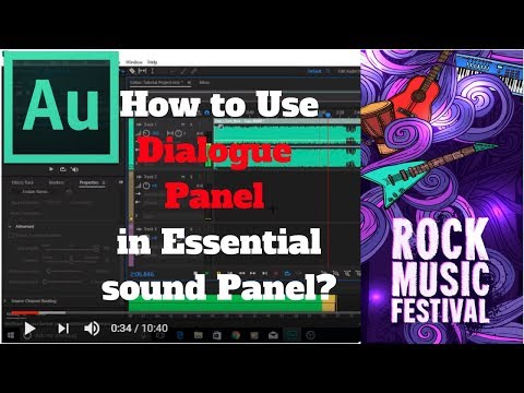 Adobe Audition - 10 - How to Use The Dialogue Panel Inside The Essential Sound Panel in Audition