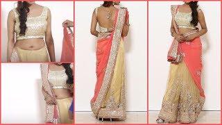 Video Stylist lehenga saree Draping | Gujrati style Saree Blouse wearing MP3, 3GP, MP4, WEBM, AVI, FLV Agustus 2018
