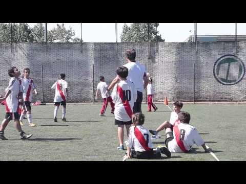 Encuentro intercolegial de fútbol en River