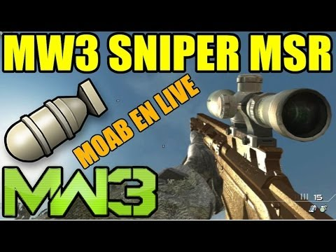 mw3 sniper gameplay - Un live sur MW3 au sniper MSR avec une MOAB ○ Black ops 2 BALLISTA : http://youtu.be/-w8JAh1Gsvg SkyRRoZ T-Shirt : http://electronicgamersleague.com/collecti...