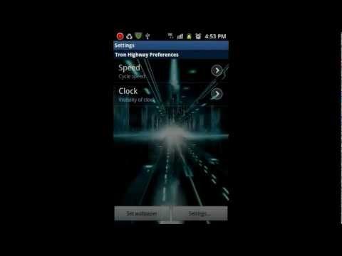 Video of Glowing Neon Highway LWP