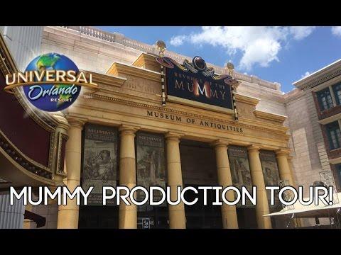 Revenge of the Mummy Production Tour at Universal Orlando! (FULL TOUR)