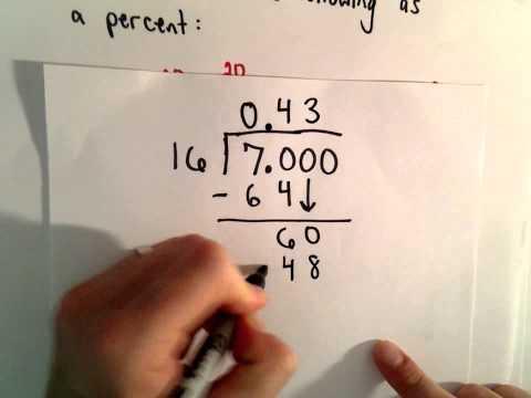 Schreiben Sie eine Zahl als Prozentsatz (5 Beispiele)