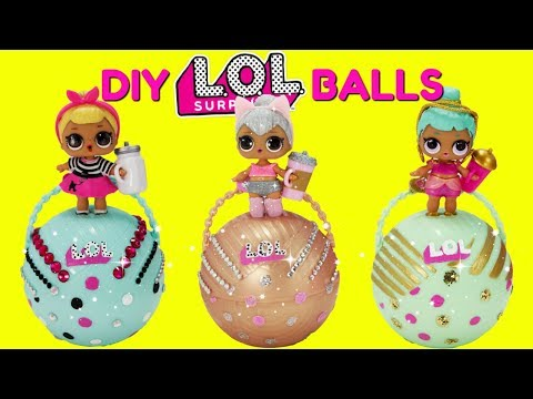 D.I.Y. LOL Surprise Balls Custom Makeover Kitty Queen, Sis Swing, Genie LOL Surprise Dolls Toys_Legjobb vicces videók