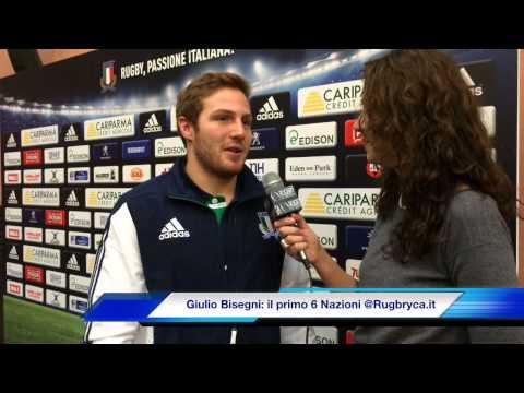 Giulio Bisegni: il mio primo Sei Nazioni