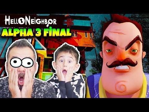 HELLO NEIGHBOR KAZIM USTANIN GİZLİ ÇATI KATI ODASI! | HELLO NEIGHBOR ALPHA 3 FİNAL