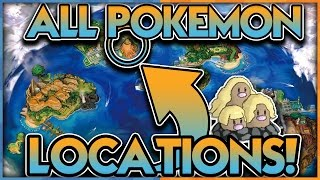 ALL POKEMON LOCATIONS LEAKED in POKEMON SUN and POKEMON MOON! by aDrive