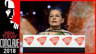 Video Won't Let BJP Come Back To Power In 2019, Says Sonia Gandhi At India Today Conclave 2018 MP3, 3GP, MP4, WEBM, AVI, FLV September 2018