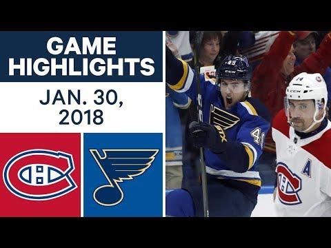 Video: NHL Game Highlights | Canadiens vs. Blues - Jan. 30, 2018
