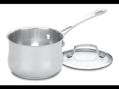 cuisinart 419 14 contour stainless 1 quart saucepan with cover