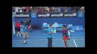 Luksika vs Kvitova match point ! Australian Open 2014
