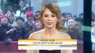 Today Show  Taylor Swift talks growing up through song