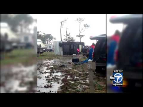 Virginia - A fierce tornado packing powerful winds of up to 100 miles an hour toppled trees and flipped campers Thursday at a campground along Virginia's Eastern Shore,...