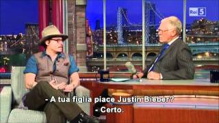 Johnny Depp On David Letterman (27.10.2011) Sub ITA {PART.1}