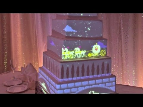 Virtual Wedding Cake Design : Interactive projection mapped wedding cake from Disney ...