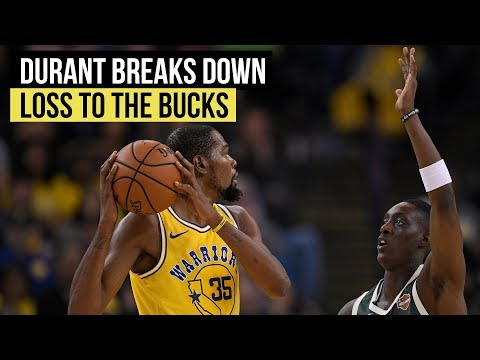 Warriors' Kevin Durant breaks down loss to Milwaukee Bucks