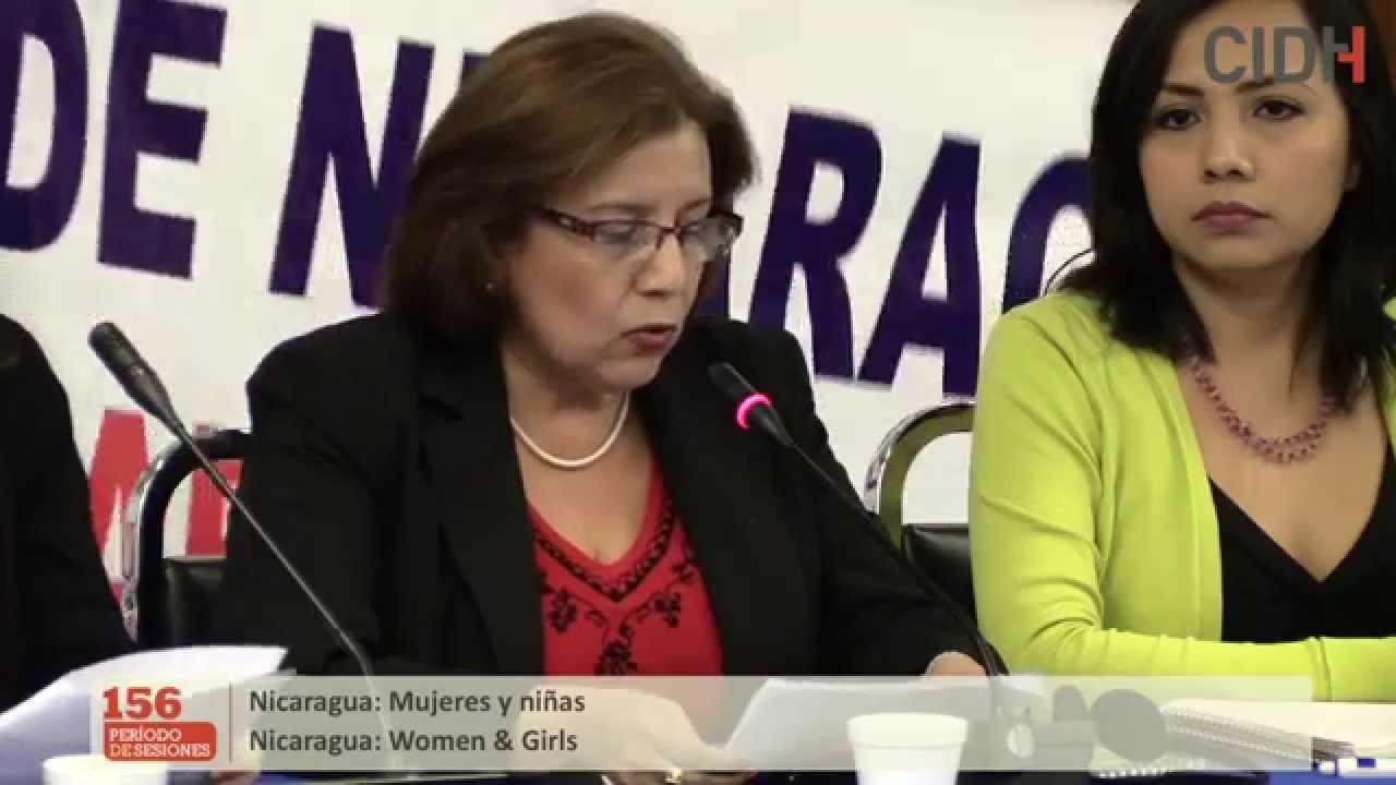 Situación de derechos humanos de mujeres y niñas en Nicaragua
