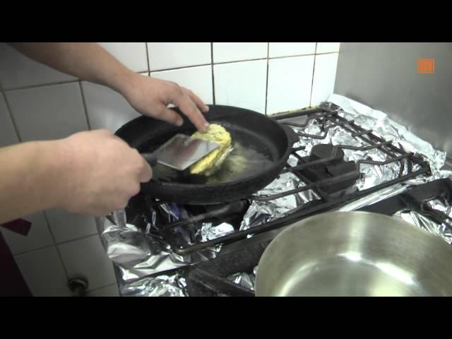 Zanderfilet unter einer Sauerkraut-Thymian-Kruste