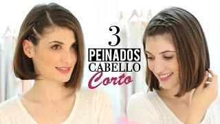3 Peinados fa�ciles para cabello corto