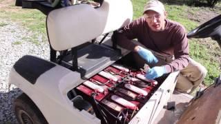 8. Golf Cart maintenance battery fill test wash EZGo review