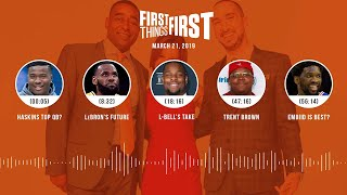 First Things First audio podcast(3.21.19)Cris Carter, Nick Wright, Jenna Wolfe   FIRST THINGS FIRST