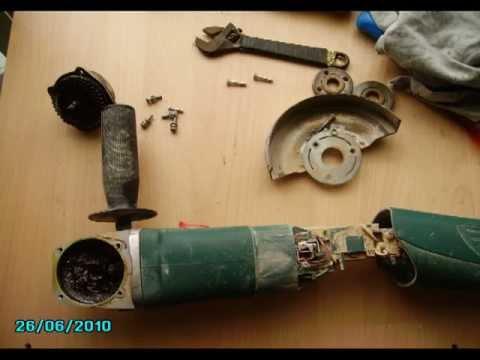 Cómo reparar una radial ó amoladora, cojinete roto