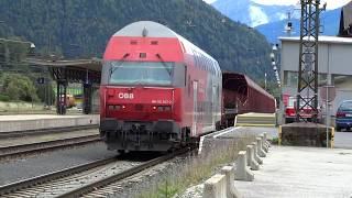 Bockstein Austria  City new picture : Car train loading unloading at Mallnitz Obervellach Austria