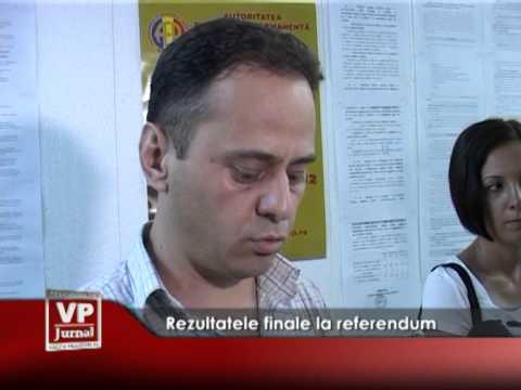 Rezultatele finale la referendum
