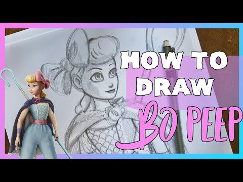 How to Draw BO PEEP from Disney, Pixar's TOY STORY