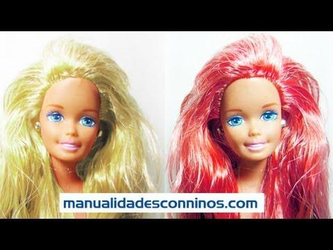 Episodio 615- Cómo colorear el pelo de tus muñecas temporalmente utilizando tinte alimenticio